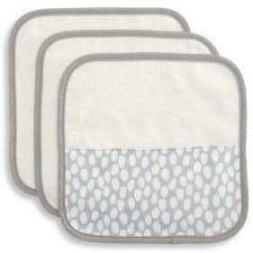 Elegant Baby Baby's Three-Piece Organic Cotton Velour Terry Washcloth Set