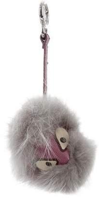 Fendi Jessy JR Fox Fur Bag Bug Charm