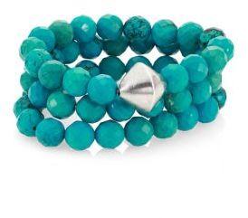 Nest Turquoise Beaded Stretch Bracelet Set $195 thestylecure.com