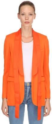 MSGM Jersey Tuxedo Jacket W/ Satin Details