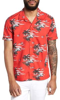 Ted Baker Slim Fit Tropical Pattern Sport Shirt