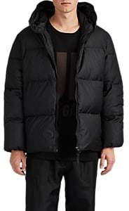"Katharine Hamnett Men's ""Love"" Down-Quilted Oversized Puffer Coat - Black"
