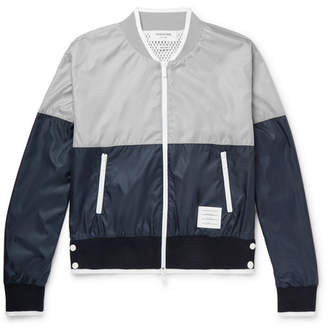 Thom Browne Colour-Block Ripstop Bomber Jacket