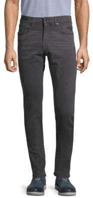 Straight-Leg Slim-Fit Jeans