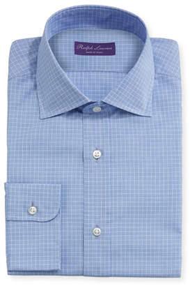 Ralph Lauren Micro-Glen Plaid Check Dress Shirt