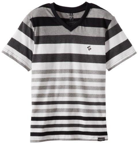 Southpole Kids Boys 8-20 Yarn Dyed V-Neck Medium Matching Stripe Tee