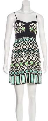Milly Silk Geometric Dress