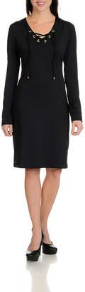 HARVE BERNARD Harve Benard Lace Up Dress