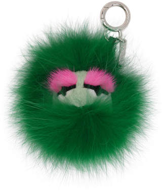 Fendi Green Fur Bag Bugs Keychain