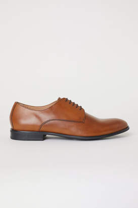 H&M Leather Derby Shoes - Beige