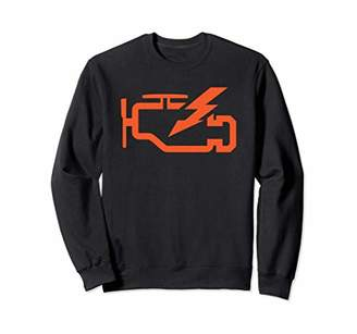 Check Engine Light Funny Automotive Mechanic Sweater