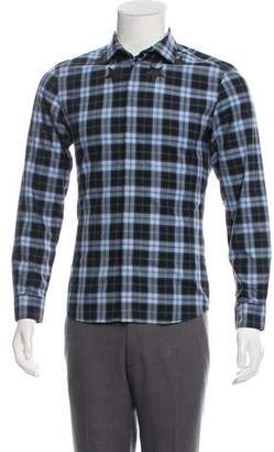Givenchy Star Graphic Plaid Shirt