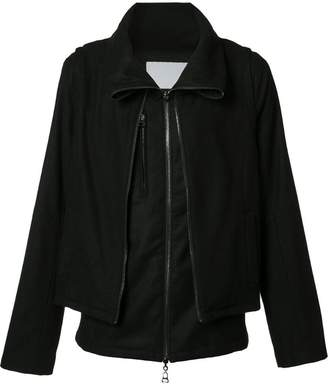 Private Stock folded neck zipped jacket