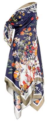 Monse Printed silk twill dress