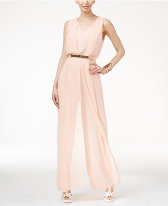 Thalia Sodi Chiffon-Overlay Jumpsuit, Only at Macy's $99.50 thestylecure.com
