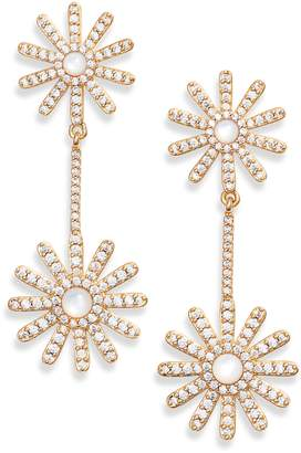 Asha Daisy Pave Drop Earrings