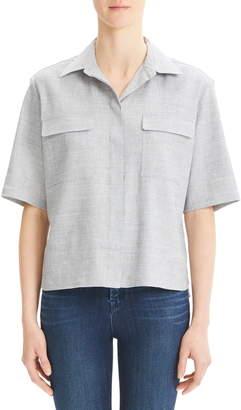 Theory Classic Linen Blend Shirt