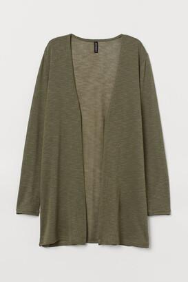 H&M Loose-knit Cardigan - Green