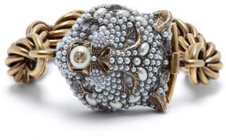 Gucci Chunky feline head bracelet