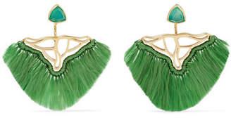 Katerina Makriyianni - Gold-plated, Quartz And Agate Earrings - Green