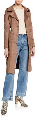 Neiman Marcus Suede Trench Coat