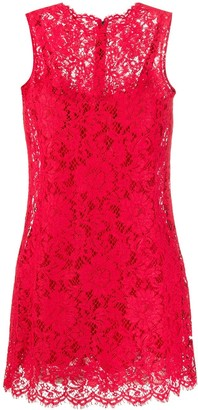 Dolce & Gabbana A-line scalloped lace dress