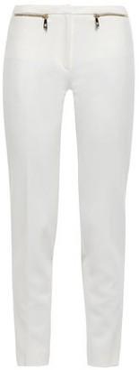 Versace Zip-detailed Cady Slim-leg Pants