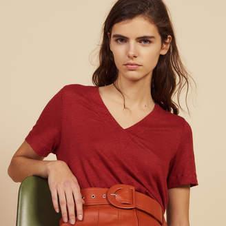 Sandro Short-Sleeved Linen T-Shirt