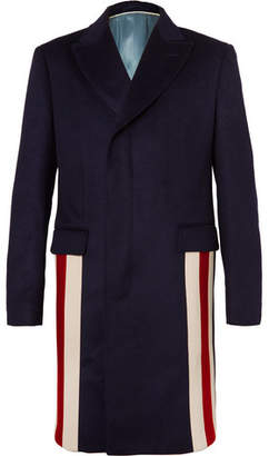Gucci Stripe-Trimmed Cashmere And Wool-Blend Coat