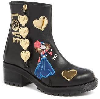 Love Moschino Embroidered & Patch Detailed Boot