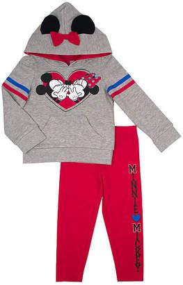 DISNEY MINNIE MOUSE Disney 2-pc. Minnie Mouse Legging Set-Toddler Girls