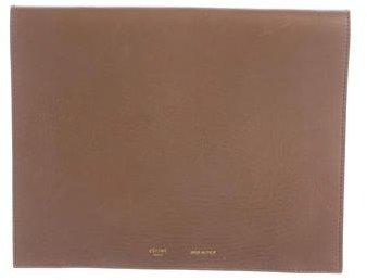 CelineCéline Leather Flap Clutch