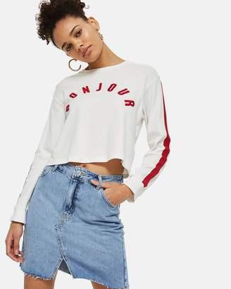 Topshop Mini Denim Skirt