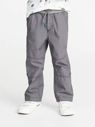 79cf1447e Old Navy Rib-Waist Poplin Roll-Up Pants for Toddler Boys