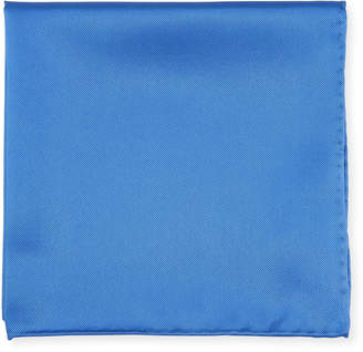 Neiman Marcus Men's Silk Pocket Square Blue