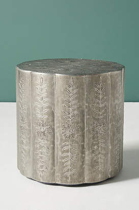 Anthropologie Embossed Scalloped Side Table