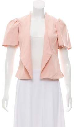 Ulla Johnson Short Sleeve Open-Front Blazer