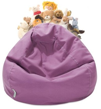 Majestic Home Goods Stuffed Animal Storage Bean Bag Chair Cover w/ Transparent Mesh Base, Multiple Colors
