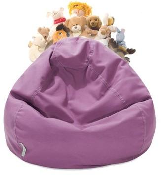 2ff50e5e19ac Majestic Home Goods Stuffed Animal Storage Bean Bag Chair Cover w   Transparent Mesh Base