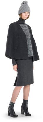 Max Studio glen plaid knitted needlepunch pullover