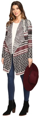Lucky Brand Mixed Striped Cardigan $129 thestylecure.com