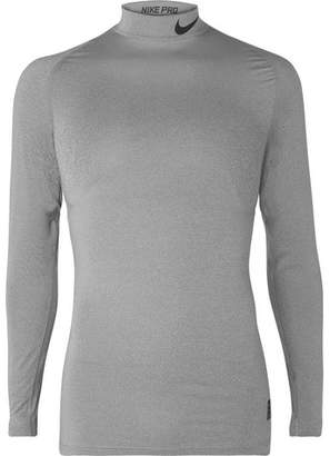 Nike Training Mesh-Panelled Stretch-Jersey Compression Top