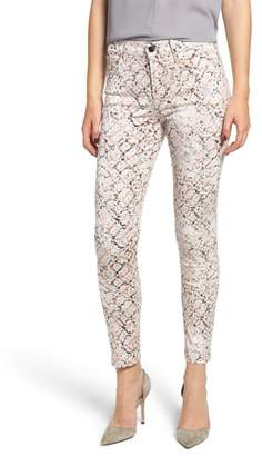 Jen7 Printed Skinny Ankle Jeans