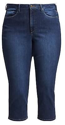 NYDJ NYDJ, Plus Size Women's Capri Side Slit Jeans