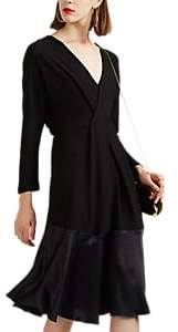Derek Lam Women's Silk-Trimmed Cady Midi-Dress - Black