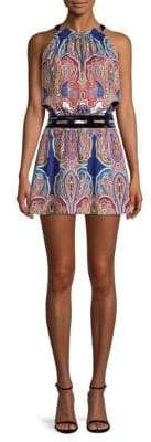 Ramy Brook Ivie Paisley Silk Mini Dress