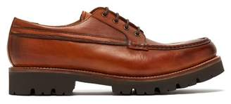 Grenson Buddy Leather Derby Shoes - Mens - Brown