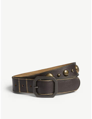 Diesel B-Tek studded leather belt