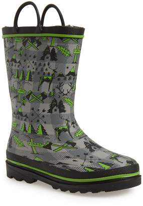 Western Chief Lumberjack Faux Fur Lined Rain Boot
