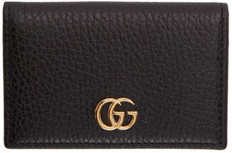 Gucci Black Petite Marmont Card Holder